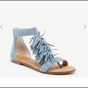 Sole society fringe sandals